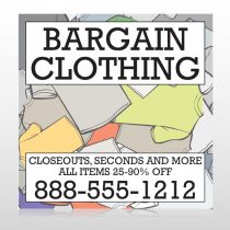 Bargain Bin 532 Site Sign