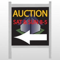 "Auction Corner 650 48""H x 48""W Site Sign"