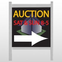 "Auction Corner 701 48""H x 48""W Site Sign"
