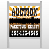 "Auction Parktown 647 48""H x 48""W Site Sign"