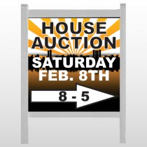 "Auction Right Arrow 717 48""H x 48""W Site Sign"
