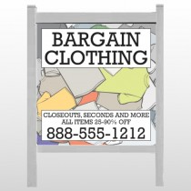 "Bargain Bin 532 48""H x 48""W Site Sign"