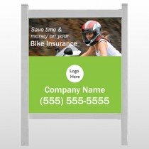 "Bike Insurance 110 48""H x 48""W Site Sign"