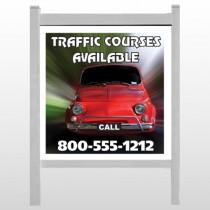 "Car Traffic 153 48""H x 48""W Site Sign"