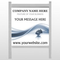 "Classy World 166 48""H x 48""W Site Sign"