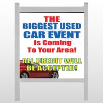 "Fireworks Car 111 48""H x 48""W Site Sign"