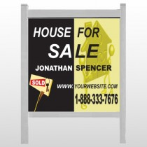 "Gold Puzzle House 864 48""H x 48""W Site Sign"