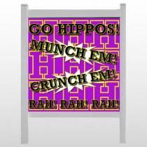 "Hippos 45 48""H x 48""W Site Sign"