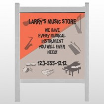 "Larry Music Store 372 48""H x 48""W Site Sign"