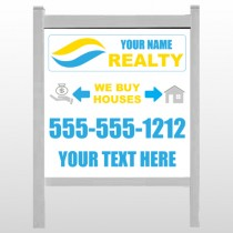 """Money Bag And Home 659 48""""H x 48""""W Site Sign"""