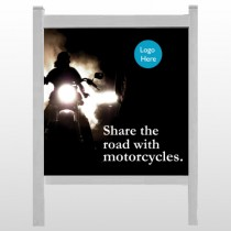 """Motorcycle 106 48""""H x 48""""W Site Sign"""