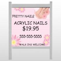 """Nail Salon 291 48""""H x 48""""W Site Sign"""