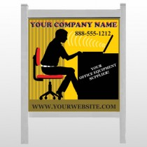 "Office 149 48""H x 48""W Site Sign"