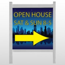 """Open House Night City 707 48""""H x 48""""W Site Sign"""