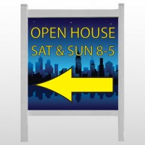 """Open House Night City 706 48""""H x 48""""W Site Sign"""