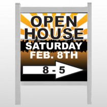"Open Right Arrow 715 48""H x 48""W Site Sign"