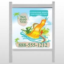 "Palm Island Pool 534 48""H x 48""W Site Sign"