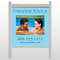 """Paradise Pool 529 48""""H x 48""""W Site Sign"""