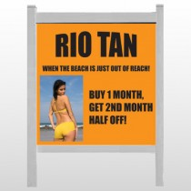 "Rio Tan Beach 489 48""H x 48""W Site Sign"