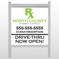 "RX  North County 105 48""H x 48""W Site Sign"