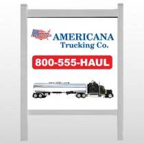 "Tanker Truck 315 48""H x 48""W Site Sign"