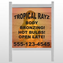 "Tropical Rayz Tan 490 48""H x 48""W Site Sign"