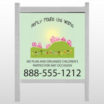 "World Party Plan 520 48""H x 48""W Site Sign"