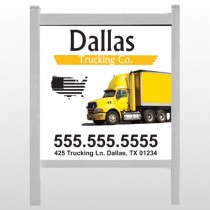 "Yellow Truck 296 48""H x 48""W Site Sign"
