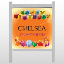 "Birthday Balloons 185 48""H x 48""W Site Sign"