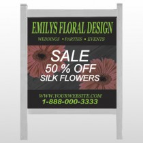 "Black And Floral 496 48""H x 48""W Site Sign"