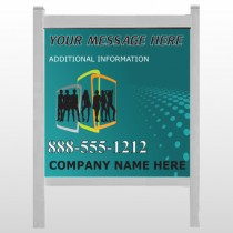 "Fashion Models 180 48""H x 48""W Site Sign"