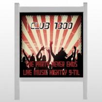 "Night Club 523 48""H x 48""W Site Sign"