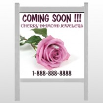 "Pinkrose Hidden Ring 399 48""H x 48""W Site Sign"