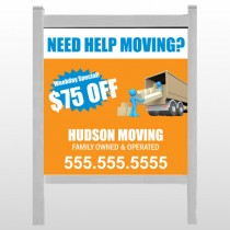 "Blue Moving 294 48""H x 48""W Site Sign"