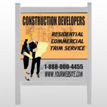 "Contractors 645 48""H x 48""W Site Sign"