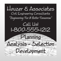 Black Planning 218 Custom Sign
