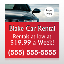 Car Rental 112 Site Sign