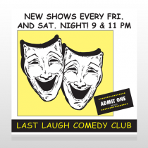 Comedy Mask 516 Custom Sign