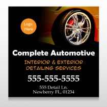 Detailing Services 115 Custom Sign