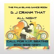 DJ Crank Night 369 Custom Sign