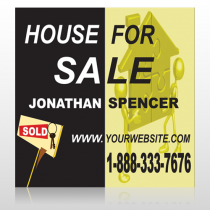 Gold Puzzle House 864 Site Sign
