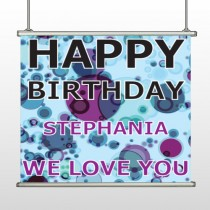 Birthday Dots 16 Hanging Banner