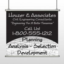 Black Planning 218 Hanging Banner