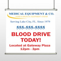 Blood Drive 97 Hanging Banner