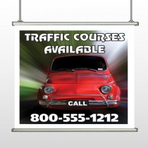Car Traffic 153 Hanging Banner