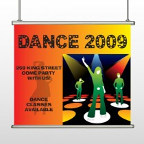 Dance Disco 518 Hanging Banner