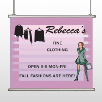 Fine Clothing 531 Hanging Banner