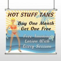 Hot Beach Tan 299 Hanging Banner