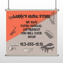 Larry Music Store 372 Hanging Banner