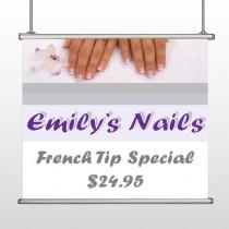 Nails 295 Hanging Banner